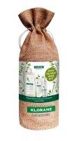 Klorane XMas Oves šampon 400 ml + balzám 50 ml + suchý šampon 50 ml dárková sada