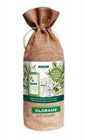 KLORANE Xmass set Olivy šampon 400 ml + balzám oves 50 ml + suchý šampon oves 50 ml