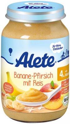 Alete BIO Příkrm banán + broskev + rýže 4m+ 190 g