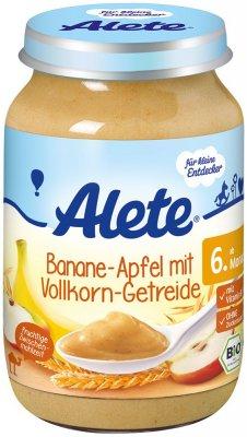Alete BIO Příkrm banán + jablko + celozrné obiloviny 6m+ 190 g