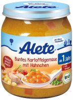 Alete BIO Příkrm zelenina + brambory + kuře 12m+ 250 g