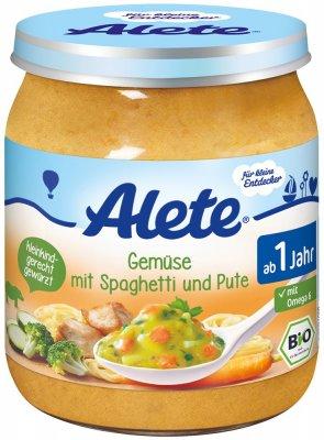Alete BIO Příkrm zelenina + špagety + krůta 12m+ 250 g