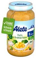 Alete BIO Příkrm těstoviny + brokolice + smetana 8m+ 220 g