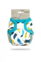 Petit Lulu Novorozenecké svrchní kalhotky 1 ks tyrkysová peříčka