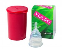 YUUKI Menstruační kalíšek Classic Small set 1 ks + dezinfekční krabička