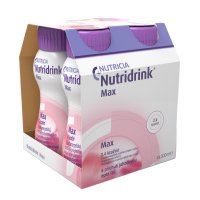 Nutridrink Max příchuť jahoda 4x300 ml