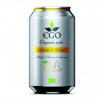 EGO BioLimonáda citrón/zázvor plechovka 330 ml