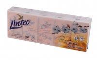 Linteo Papírové kapesníky 4vrstvé s vůní bavlny 10x10 ks