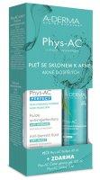 A-Derma Phys-AC Perfect 40 ml + Čisticí gel 100 ml + vzorek gel 5 ml