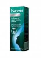 Nasivin 0,5 mg/ml nosní kapky, roztok 10 ml