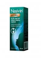 Nasivin pro děti 0,25 mg/ml nosní kapky, roztok 10 ml