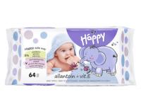 Bella Happy Allantoin + Vitamin E vlhčené ubrousky 64 ks