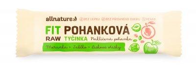 Allnature Bezlepková pohanková tyčinka FIT meruňky, lískové ořechy, jablka 45 g