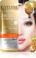Eveline 24k Gold vyživující pleťová textilní maska 1 ks