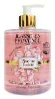 Jeanne en Provence Mycí gel na ruce Pivoňková víla 500 ml