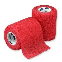 3M Coban elastické samofixační obinadlo 7,5 cm x 4,5 m 1 ks červené