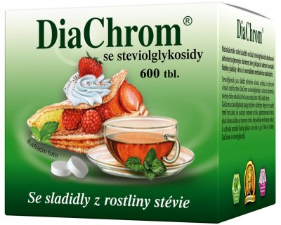 DiaChrom se steviolglykosidy 600 tablet