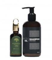 Agrico Oil Sada vlasové kosmetiky s arganovým olejem 2 ks