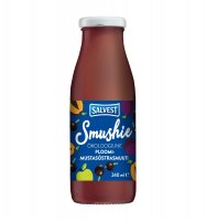 SALVEST Smushie BIO Ovocné smoothie s černým rybízem a švestkami 240 ml