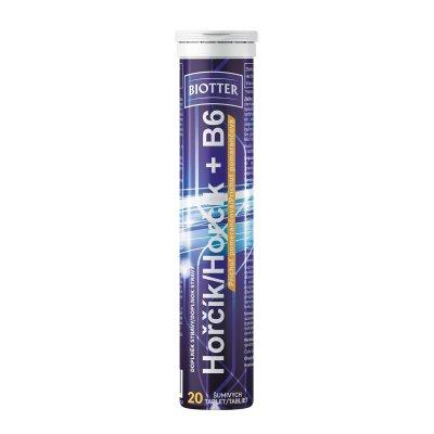 Biotter Hořčík s vitaminem B6 pomeranč 20 šumivých tablet