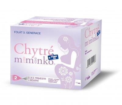 Chytré miminko methylfolát 2 s DHA 60 tablet + 60 kapslí