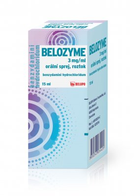 Belozyme 3 mg/ml orální sprej 15 ml
