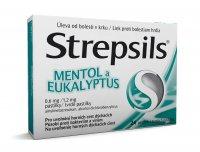 Strepsils Mentol a eukalyptus 24 pastilek