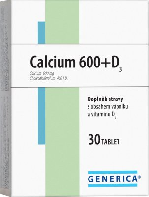 Generica Calcium 600 + D3 30 tablet