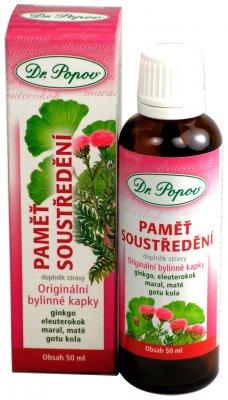 Dr. Popov Paměť soustředění bylinné kapky 50 ml