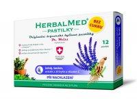 Dr. Weiss HerbalMed Šalvěj + ženšen + vitamin C BEZ CUKRU 12 pastilek