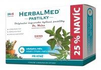 Dr. Weiss HerbalMed Eukalyptus + máta + vitamin C 24+6 pastilek
