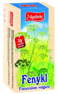 Apotheke Fenykl obecný čaj nálevové sáčky 20x 2 g