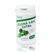 Vieste Zelená káva extra s vitamínem C s chromem 60 kapslí
