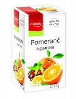 Apotheke Pomeranč a guarana čaj nálevové sáčky 20x 2 g