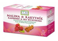 Fytopharma Ovocno-bylinný čaj malina & rakytník 20x2 g