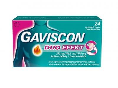 Gaviscon Duo Efekt 24 žvýkacích tablet