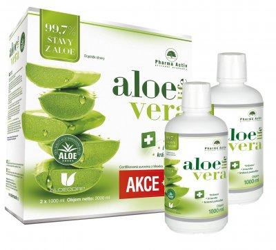 Pharma Activ AloeLive šťáva z aloe 99,7% 1000 ml 1+1 zdarma