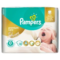 Pampers Premium Care vel. 0 Newborn 1-2,5 kg dětské pleny 30 ks