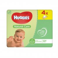 Huggies Natural Care Quatro 4 x 56 ks