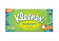 Kleenex Balsam papírové kapesníčky fresh Hanks mentol 4-vrstvé 8 x 9 ks