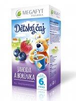 Megafyt Dětský čaj Jahoda a borůvka 20x2 g