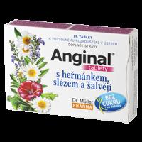 Dr. Müller Anginal s heřmánkem,slézem a šalvějí 16 tablet