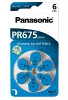 Panasonic baterie do naslouchadel 6ks PR675(44H)/6LB