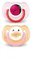 Avent Zvířátko 6-18 měsíců šidítko 2 ks pro dívky