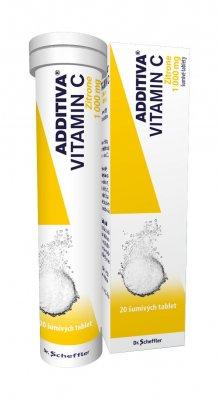 Additiva Vitamin C Zitrone 20 šumivých tablet