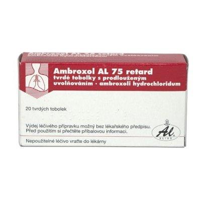 Ambroxol AL 75 retard 20 tvrdých tobolek