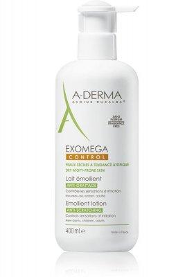 A-Derma Exomega Control emolienční mléko pro suchou kůži se sklonem k atopii 400 ml