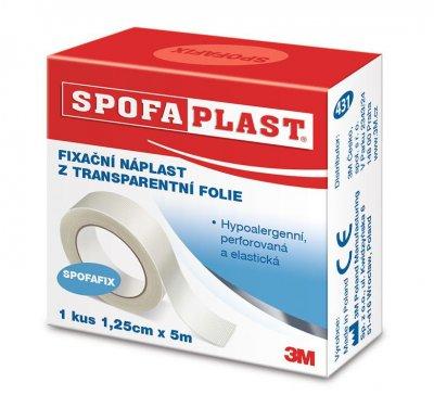 3M Spofaplast Fixační náplast z transparentní fólie 1,25 cm x 5 m 1 ks