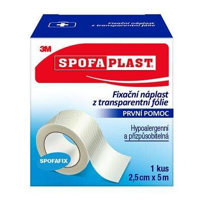3M Spofaplast Fixační náplast z transparentní fólie 2,5 cm x 5 m 1 ks