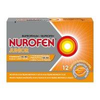 Nurofen Junior Pomeranč 100 mg 12 žvýkacích tobolek